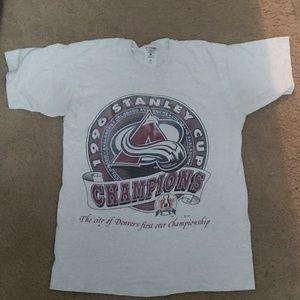 1996 Colorado Avalanche Stanley Cup Tee